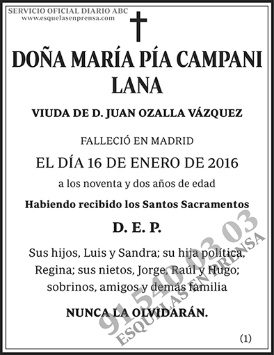 María Pía Campani Lana